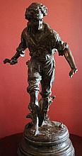 Friends, bronze sculpture after Auguste Moreau 64c