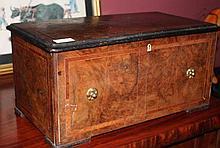 Early Victorian Burr- Walnut Large Jewellery Caske