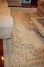 Chinese Cream Wool Rug 354cm L x 260cm W