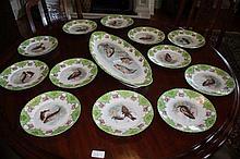 Set Of Thirteen Victorian Fish Decorated Plates