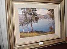 Werner Filipich oil on board, Middle Harbour, sign