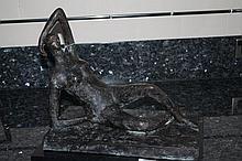 Nude Model, bronze sculpture after Henry Moore 35c