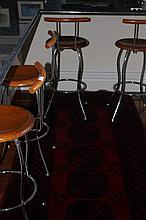 Four Modern Bar Stools