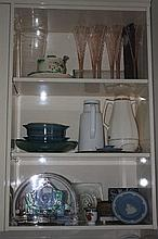 Three Shelves Of Collectables Wedgewood, Royal Wo