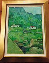 Ray Crooke oil on board, Landscape, signed 93cm x 74cm Includes Frame