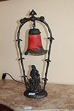 Pair Of Bronze Style Figural Lamps