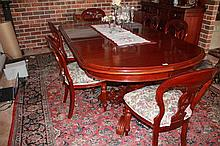 Seven Piece Mahogany Extension Dining Table