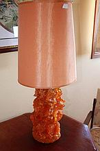 Bright Orange Retro Lamp