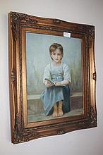 Framed oil on board, European Portrait, bears the