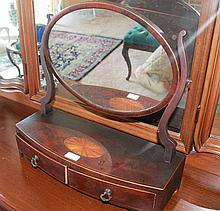 Antique Mahogany And Satin Wood Dressing Table