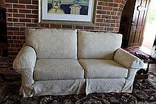 Two Seater Fabric Cream Lounge