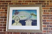 Sidney Nolan artist proof lithograph, Harbour
