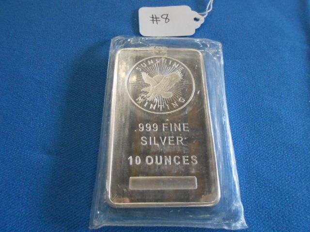10 Ounce Sunshine Mint/ .999 Silver Bar
