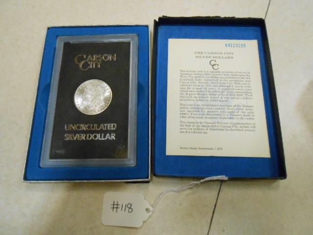 1884-CC Morgan Silver Dollar GSA Uncirculated Silver Dollar