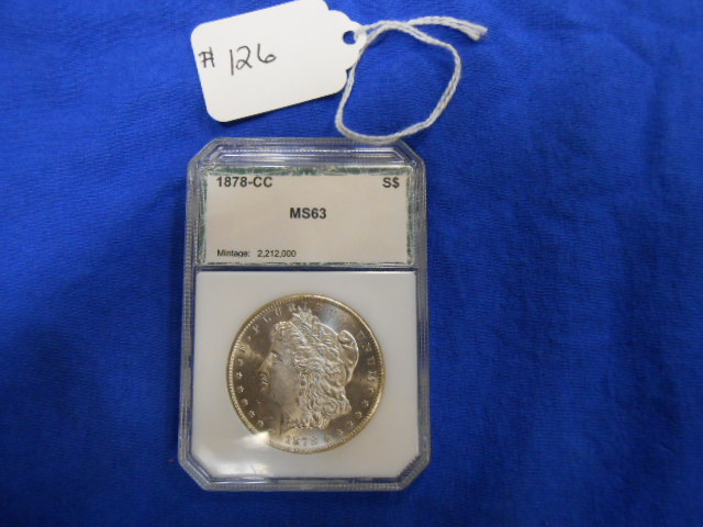 1878-CC Morgan One Dollar PCI MS 63