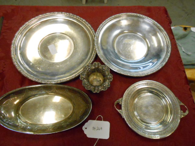 5 Misc Sterling Silver Pieces 851 Grams of Sterling Silver