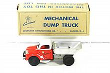COURTLAND TIN WINDUP DUMP TRUCK W/BOX