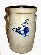 Blue Decorated Rare Size Table Butter Churn