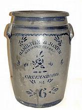 Hamilton & Jones 6 Gallon Stoneware Crock