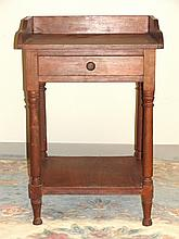 Victorian Cherry One Drawer Stand With Gallery