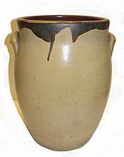 Brown Slip Ware Glaze Stoneware Crock Jar
