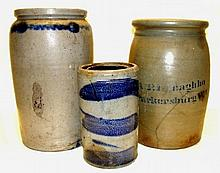 A.P. Donaghho And Other Storage Jar Crocks