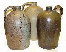 Stoneware Jugs One Stamped Strasburg VA.