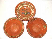 Redware Clay/Pottery Decorated Pitchers
