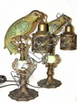 Pair Of Art Deco Parrot Bird Lamps