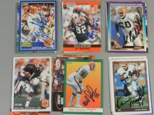 30 Cleveland Browns Signed Football Cards