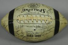 1973-74 Cleveland Browns Signed Football