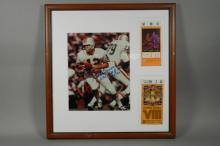 Bob Griese Signed Photo w/Super Bowl Stub