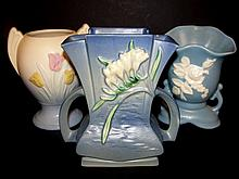 Roseville, Hull & Weller Pottery Vase's