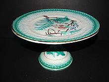 Etruscan Majolica Cake Plate Or Salver Stand