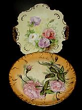 Two Hand Painted Decorated Plates