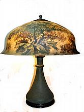 Rare Signed Pairpoint Reverse Painted Lamp