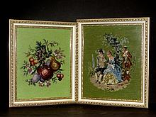 Three Framed Needlepoint's Of Flowers