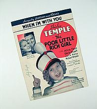 Shirley Temple Signed Sheet Music  From Poor Little Rich Girl