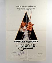 A Clockwork Orange Original Signed Stanley Kubrick/Malcolm McDowell Poster
