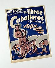 Disney 3 Caballeros Window Card Original 1943