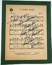 I'll Walk Alone Dinah Shore Signed Sheet Music