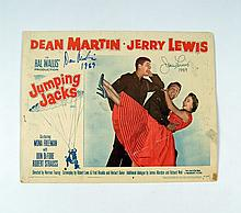 Jumping Jacks Jerry Lewis/Dean Martin Signed Lobby Card