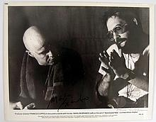 Apocalypse Now Brando/Coppola Signed Production Photo
