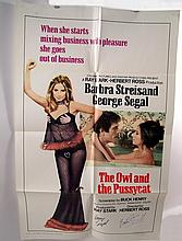 Owl and the Pussycat Streisand/Segal Signed Poster