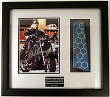 Terminator 3 Helicopter Tail Prop and Schwarzenegger Signed Photo