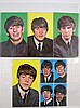 Beatles Complete Set of 5 Litho Postcards From 1964