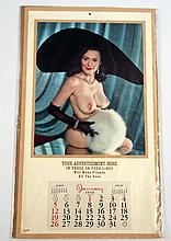 Evelyn West  Salesman's Sample 1958 Pinup Calendar