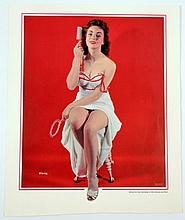 Pinup Litho 1954 Original Salesman's Sample Alluring  By Peter Gowland