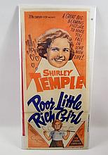 Poor Little Rich Girl Shirley Temple Rare Original Aussie Insert Poster
