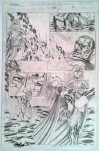 Lady Pendragon John Stinsman Original Signed Pencil Ink Drawing